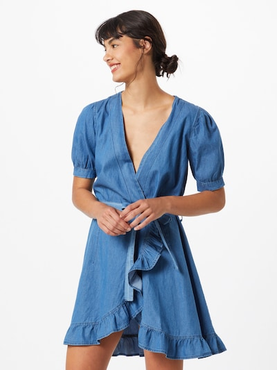 Trendyol Šaty - modrá džínovina, Model/ka