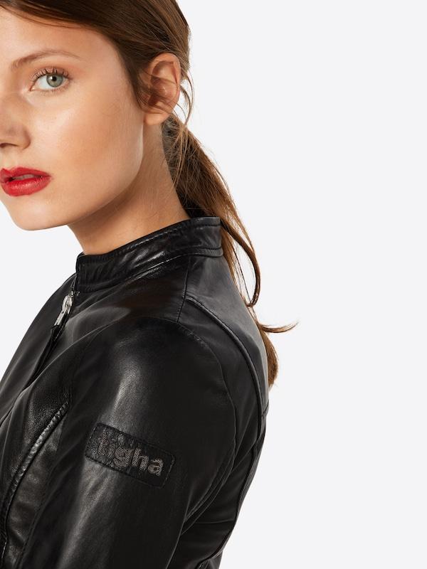 tigha Lederjacke 'Rosanna' in schwarz | ABOUT YOU