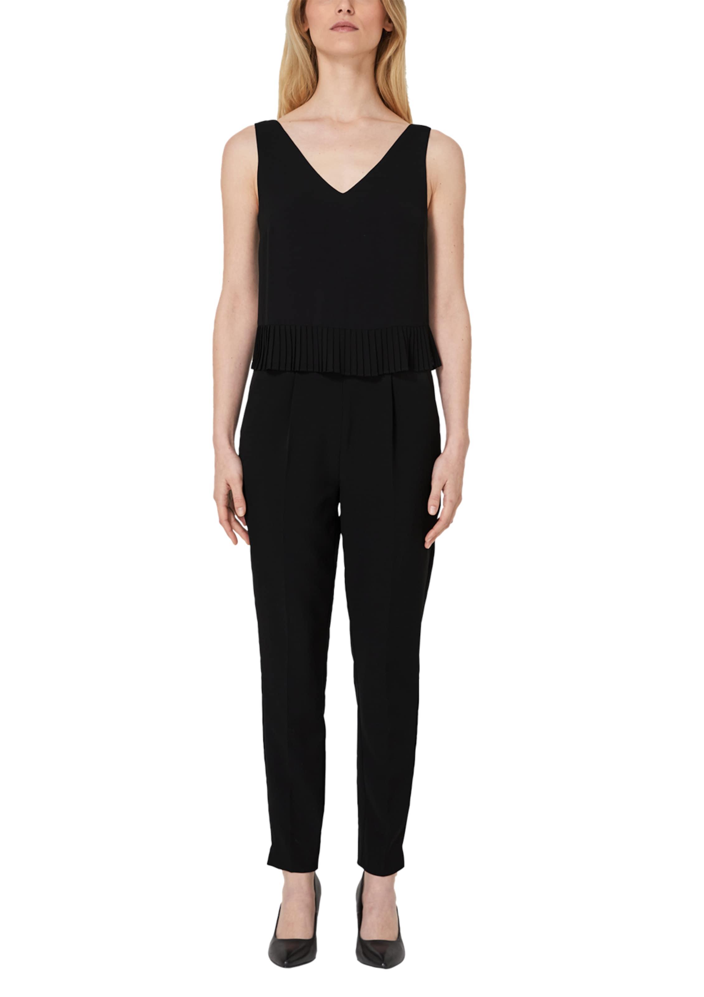 Label Plissée Black Schwarz blende S Jumpsuit Mit oliver In yvb6gf7Y