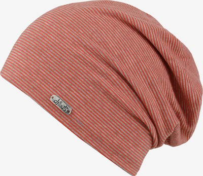chillouts Beanie 'Pittsburgh' in grau / rot, Produktansicht