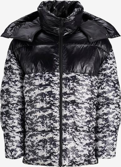 JACK & JONES Winterjas in de kleur Zwart / Wit, Productweergave