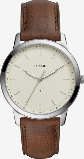 FOSSIL Quarzuhr 'THE MINIMALIST 3H' in braun / silber, Produktansicht