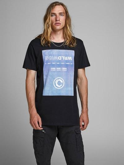 JACK & JONES T-Shirt en bleu-gris / noir: Vue de face