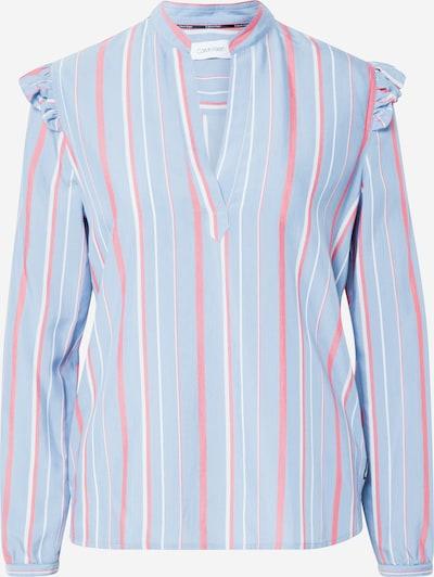 Calvin Klein Blouse in de kleur Blauw / Rosa, Productweergave