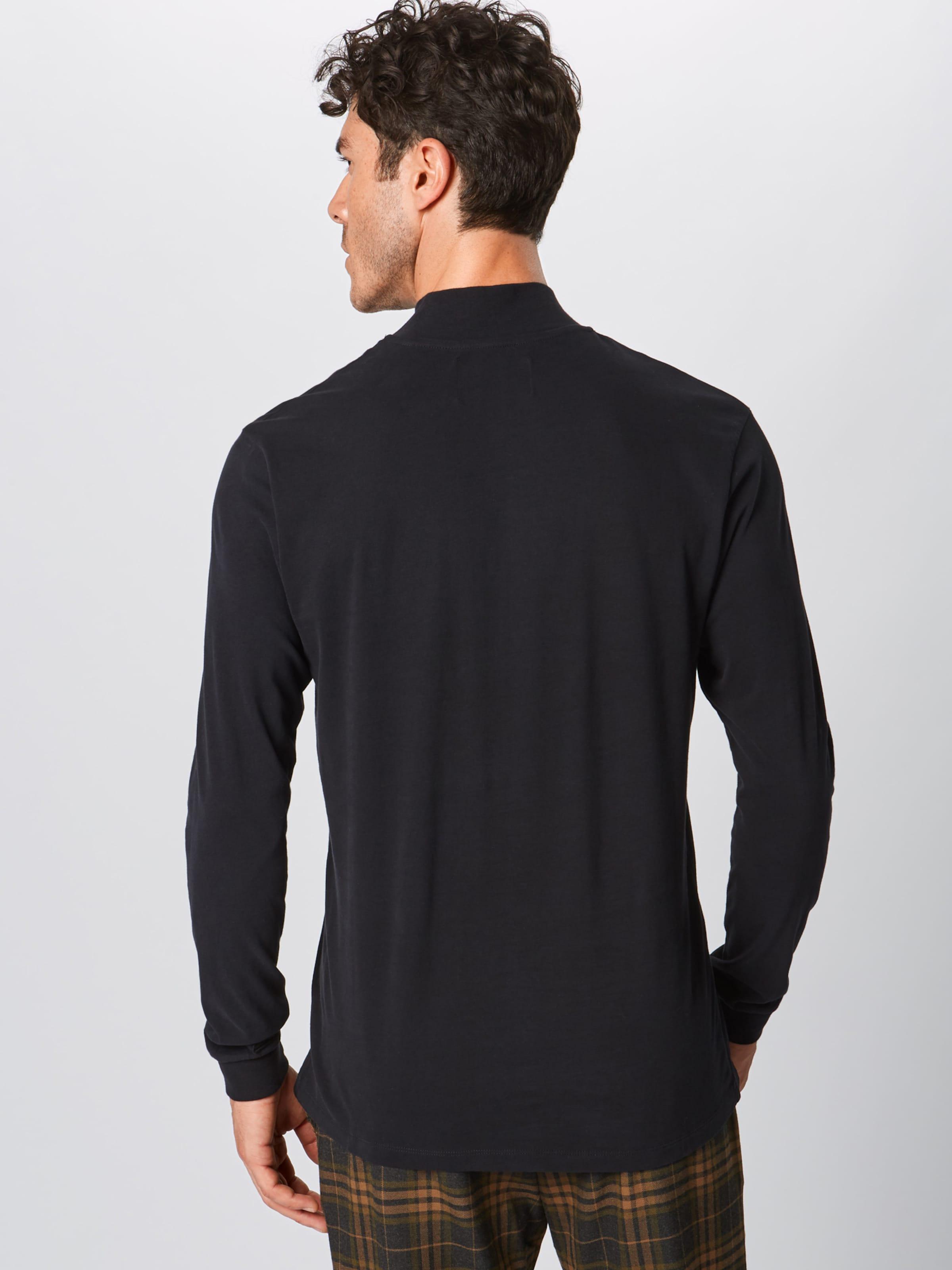 Edwin 'high Collar shirt Noir Ts En T Ls' bI6v7gyYf