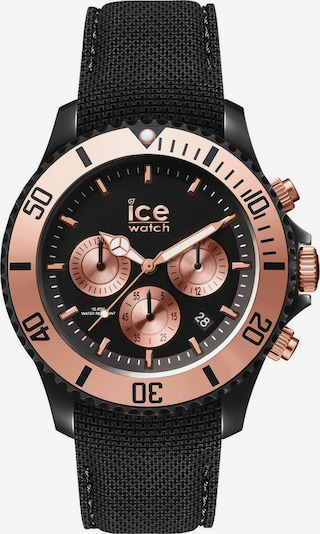 ICE WATCH Uhr in rosegold / schwarz, Produktansicht