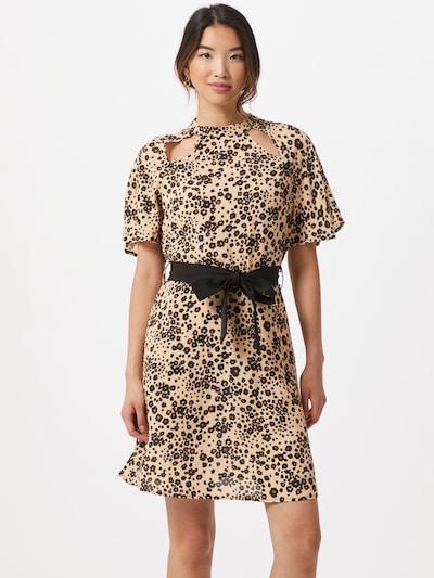 Trendyol Šaty - béžová / tmavočervená / čierna: Pohľad spredu