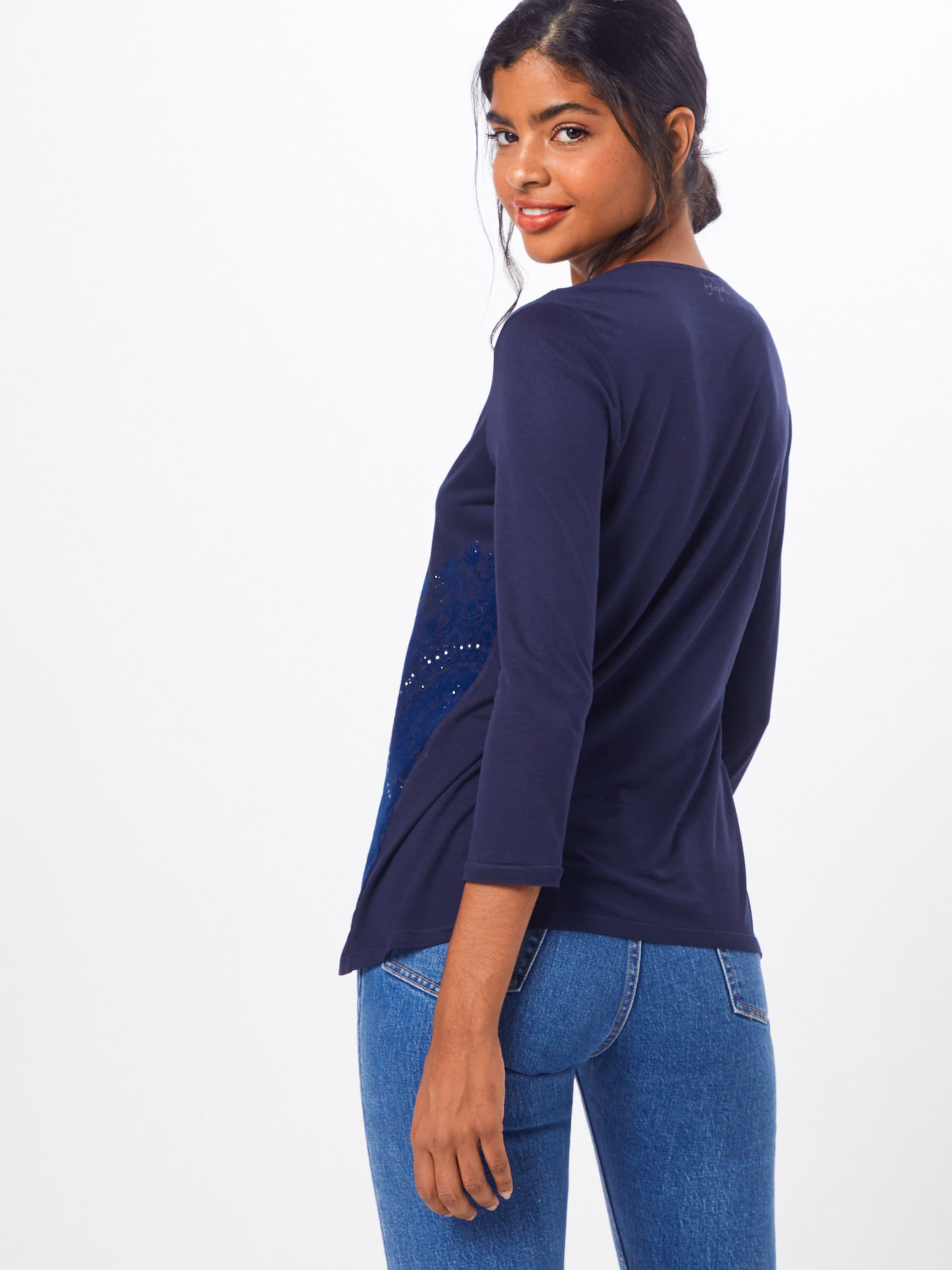 Desigual shirt T En Marine Bleu 'lorren' Okn0wN8PXZ