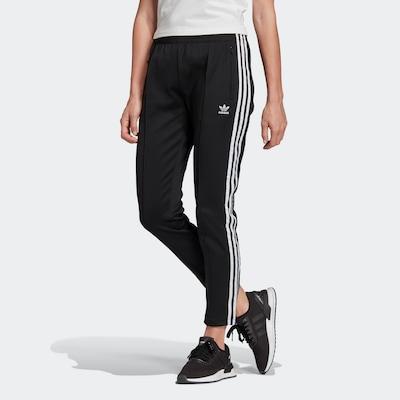 Kelnės iš ADIDAS ORIGINALS , spalva - juoda / balta, Modelio vaizdas