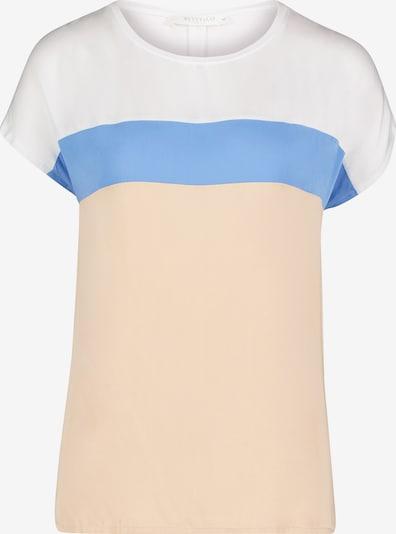 Betty & Co Patchwork-Shirt in beige / blau / weiß, Produktansicht