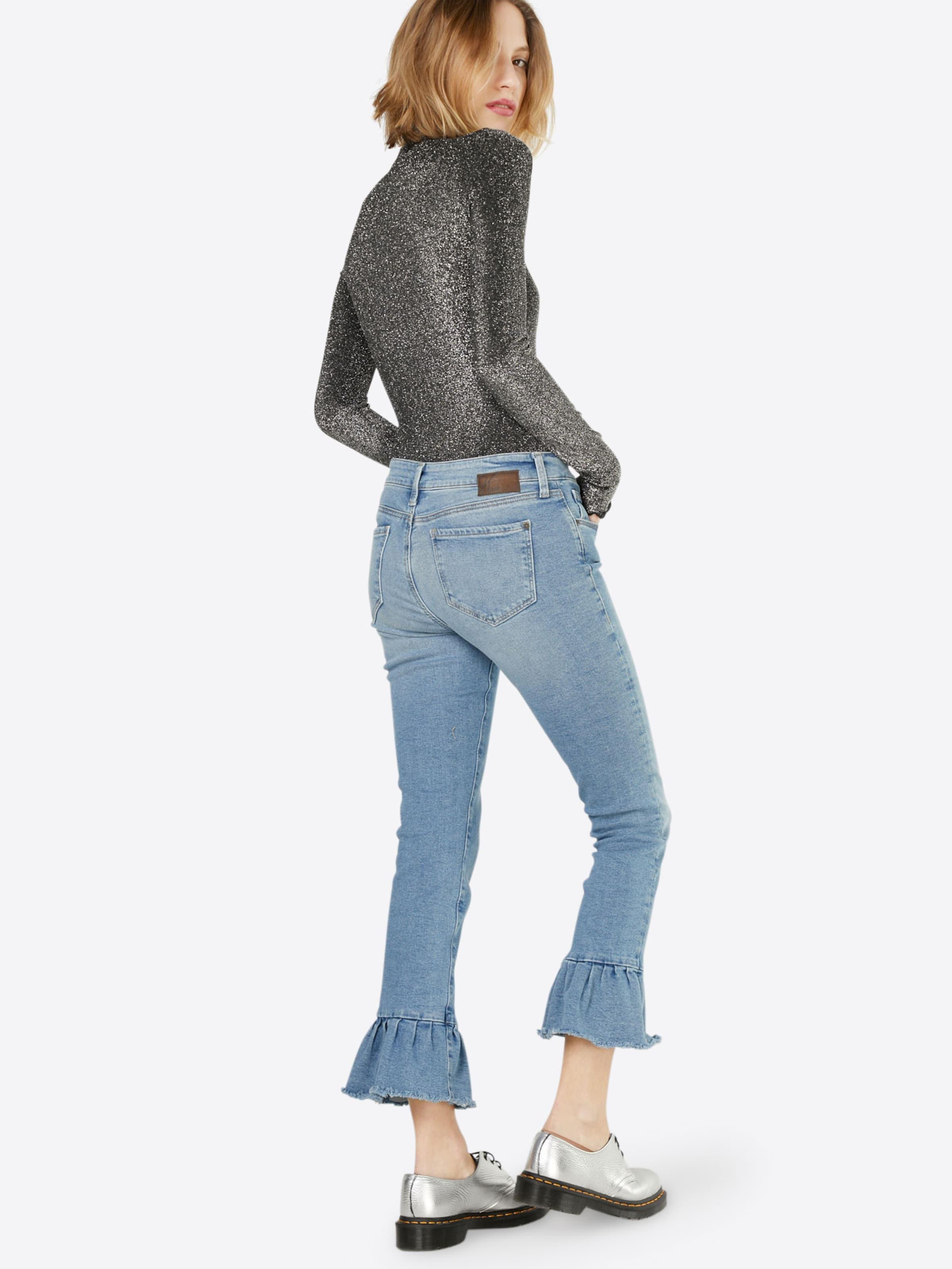 Frill' Denim Mavi Blue Skinny In Jeans 'mid OXuPZTwkil