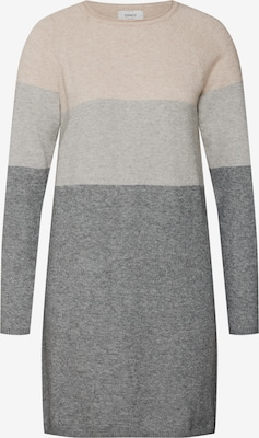 Robes en maille 'onlLILY L/S DRESS KNT NOOS' - ONLY en gris