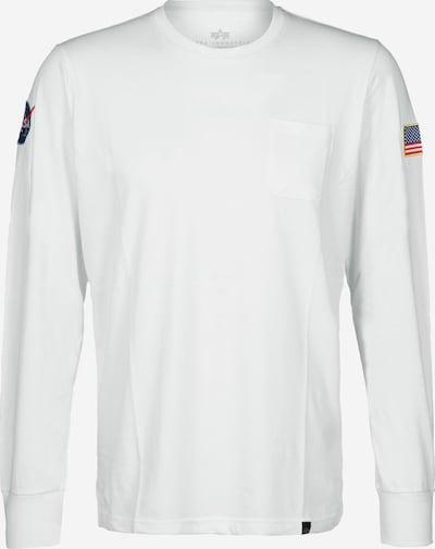 ALPHA INDUSTRIES Shirt 'NASA' in weiß, Produktansicht