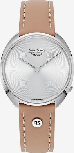 Bruno Söhnle Uhr in hellbraun / silber, Produktansicht