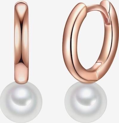 Valero Pearls Creolen in rosegold / perlweiß, Produktansicht
