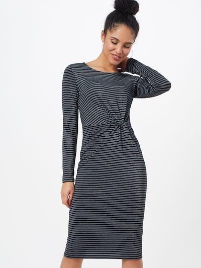 GAP Kleid  'LS KNOTWST MIDI - LUREX' in schwarz / weiß, Modelansicht