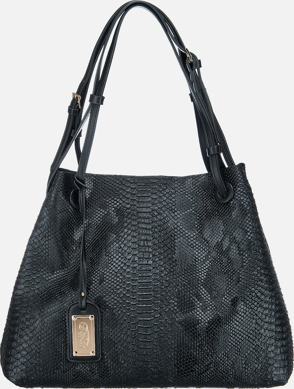 BUFFALO 3-in-1-Shopper in Reptil-Optik mit Clutch und Umhängetasche
