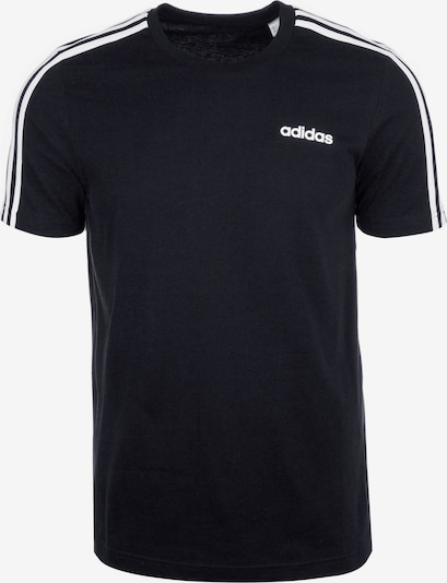 ADIDAS PERFORMANCE Trainingsshirt 'Essentials 3 Stripes' in schwarz / weiß, Produktansicht