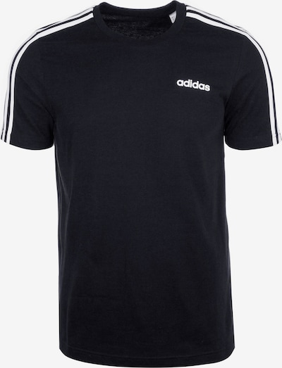 ADIDAS PERFORMANCE Functioneel shirt 'Essentials 3 Stripes' in de kleur Zwart / Wit, Productweergave