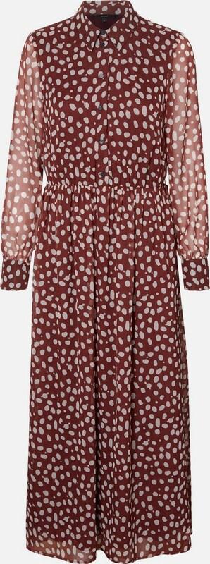 VERO MODA Kleid in kirschrot   weiß  Große Preissenkung