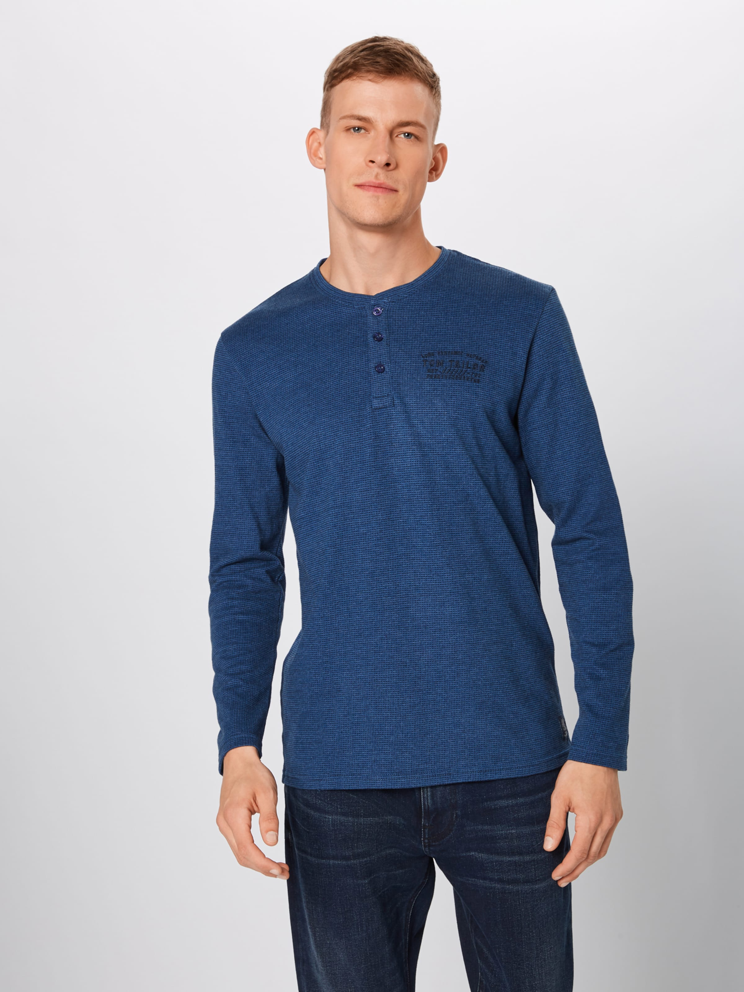 'henley' shirt Bleu Tom T En Tailor OwN0P8nkX