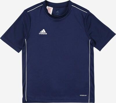 ADIDAS PERFORMANCE Sportshirt 'CORE18' in dunkelblau / weiß, Produktansicht