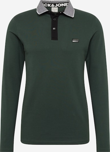 JACK & JONES Shirt 'Charming' in grau / dunkelgrün, Produktansicht