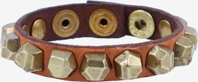 Campomaggi Armband 20 cm in cognac / gold, Produktansicht