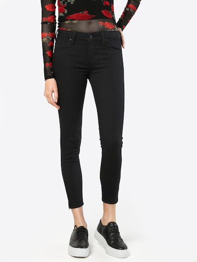 Lee Jeans 'Scarlett Cropped' in de kleur Black denim, Modelweergave
