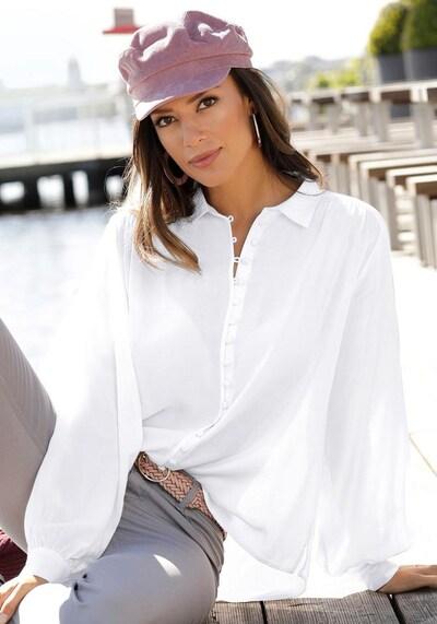 LASCANA Hemdbluse in weiß, Modelansicht