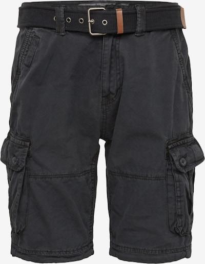 INDICODE JEANS Kargo hlače 'Balton' | črna barva, Prikaz izdelka