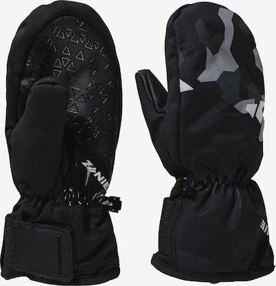 Zanier Fausthandschuhe in grau / basaltgrau / schwarz, Produktansicht