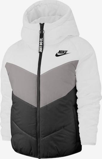 Nike Sportswear Winterjacke in grau / schwarz / weiß, Produktansicht