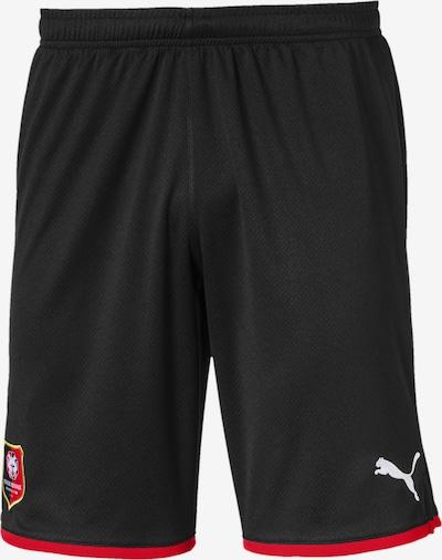 PUMA Sportbroek 'Stade Rennes' in de kleur Rood / Zwart / Wit: Vooraanzicht