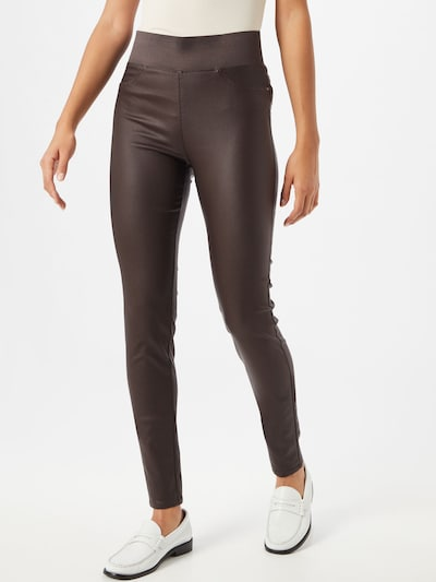 Freequent Leggings 'HANTAL' in kastanienbraun, Modelansicht