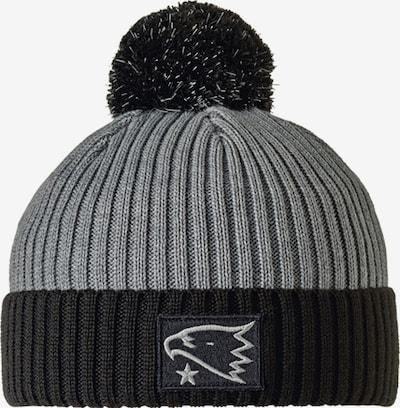 STÖHR Mütze 'HERO' in grau / schwarz, Produktansicht