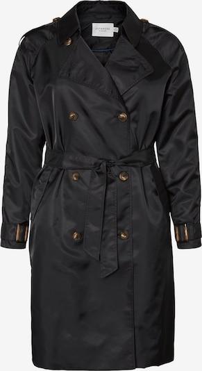 Junarose Trenchcoat in schwarz, Produktansicht