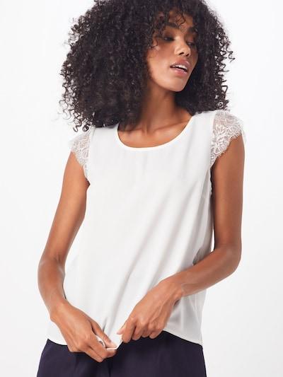 VILA Blusentop 'VIOLLI S/S TOP' in weiß, Modelansicht