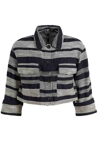 khujo Jacke ' HELOISE ' in grau / schwarz, Produktansicht