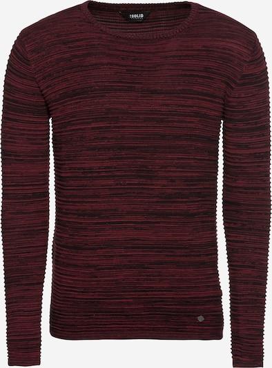 !Solid Pullover 'Struan' in weinrot: Frontalansicht