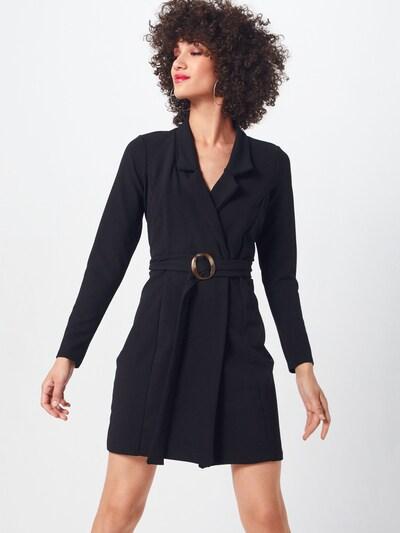 Missguided Kleid 'LONG SLEEVE BELTED BLAZER DRESS-TORTOISE' in schwarz: Frontalansicht