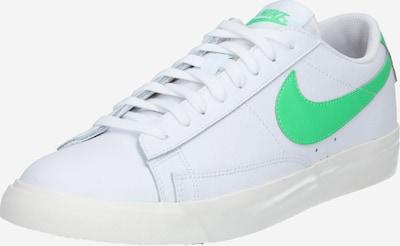 Nike Sportswear Baskets basses 'Blazer' en vert / blanc, Vue avec produit
