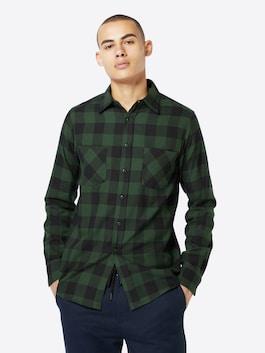 Tmavozeleno-čierna kockovaná košeľa od značky Urban Classics
