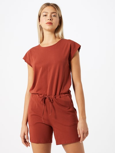 Noisy may Jumpsuit 'NMSIMMA LOCK S/S PLAYSUIT' in de kleur Donkerrood, Modelweergave
