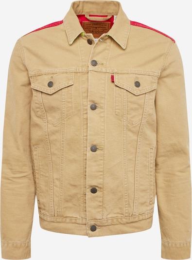 LEVI'S Jacke 'TRUCKER(JT)' in dunkelbeige / rot, Produktansicht