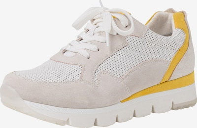 MARCO TOZZI Sneaker in gelb / weiß / wollweiß, Produktansicht