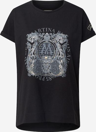 Tricou 'QUINTA' La Martina pe negru, Vizualizare produs
