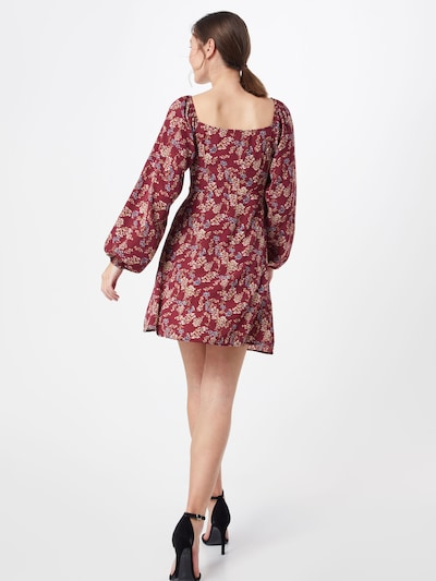 Missguided Sukienka w kolorze czerwone winom: Widok od tyłu