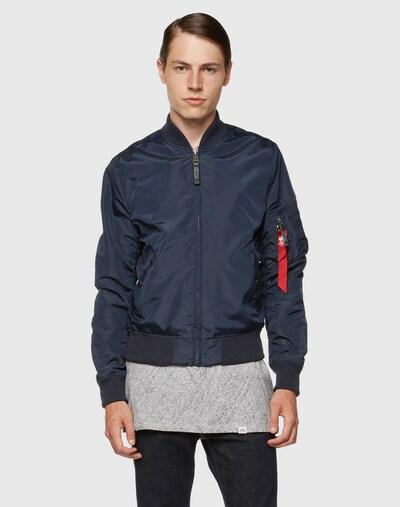 ALPHA INDUSTRIES Prijelazna jakna 'MA-1 TT' u tamno plava: Prednji pogled