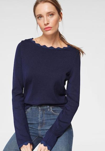 LAURA SCOTT Pullover in marine, Modelansicht